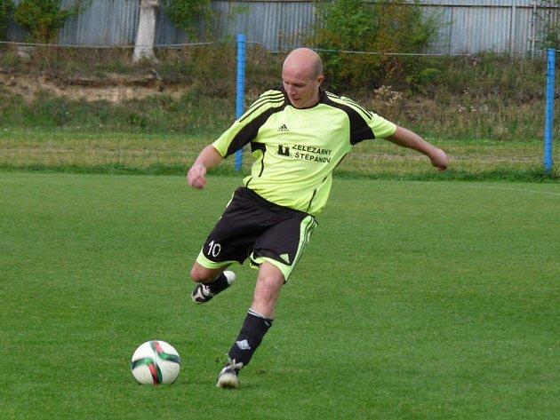 Fotbalisté Vitaliy Kutnyk (na snímku) a Volodymyr Kovalchuk už ve Štěpánově zdomácněli.