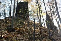 Zřícenina hradu Pyšolce patří k turisticky hojně navštěvovaným místům.
