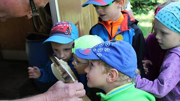 Děti Radňovic navštívily včelaře.