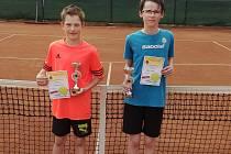 Úspěšní mladší žáci Filip Piechula (vlevo) a Jan Mašek.
