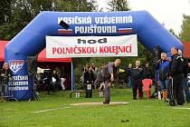 Z minulých ročníků Hodu polničskou kolejnicí.