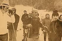Snímek pořízený na závodech Zlatá lyže v roce 1973.