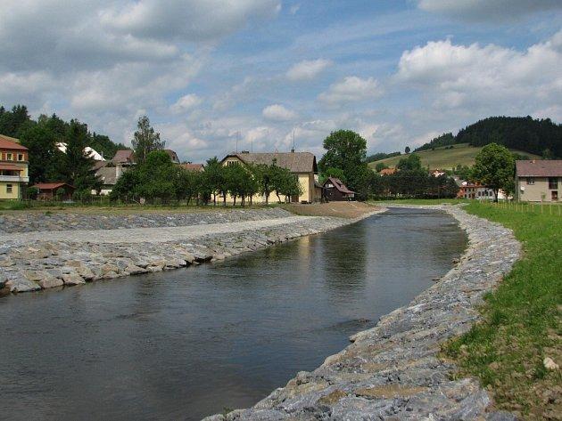Protipovodňová opatření za 19,5 milionu korun jsou nyní dokončována v Unčíně na Bystřicku.