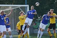 Fotbalisté FC PBS Velká Bíteš (v modrém), ilustrační foto.