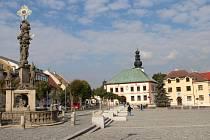 Náměstí republiky ve Žďáře nad Sázavou.