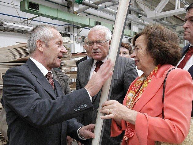 Prezident Václav Klaus v Novém Městě na Moravě.