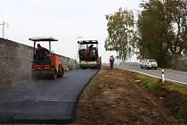 Stavba cyklostezky v Hamrech nad Sázavou přechází do poslední části výstavby.