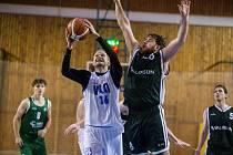 Utkání 12. kola druhé basketbalové ligy mezi BK Vlci Žďár nad Sázavou a SK Žabovřesky.