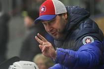 Hokejisté Třebíče, vedení trenérem Martinem Sobotkou (na snímku), obsadili v tabulce základní části deváté místo a do vyřazovací části nepostoupili.