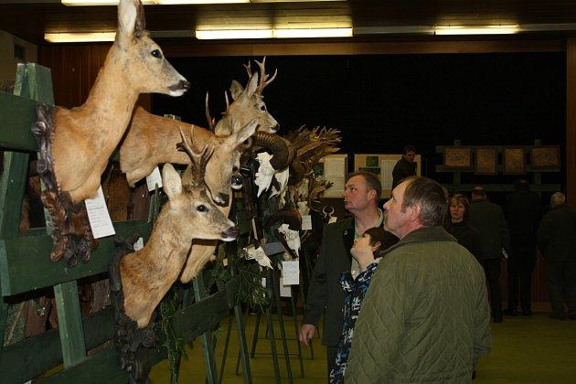 Okresní myslivecký spolek ve Žďáře výstavu trofejí zvěře pořádal u příležitosti chovatelské přehlídky