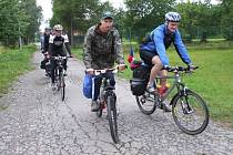 Čtyřčlenná výprava cyklistů ze Žďárska vyrazila ve středu z Pohledce směrem k norským fjordům.