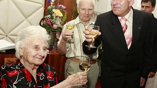 Marie Cahová z Velké Bíteše slaví 103 let