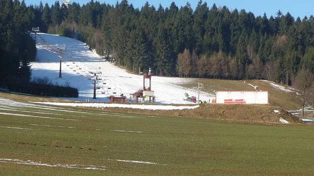 Harusův kopec 16. prosince 2013.