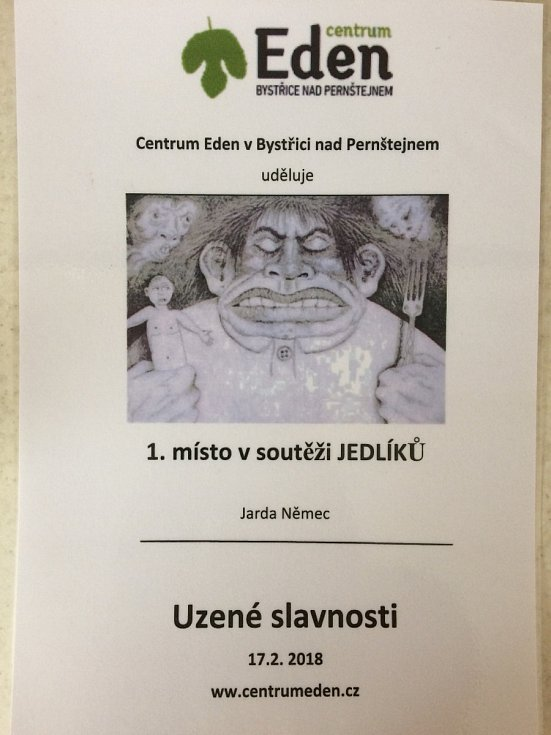 Jaroslav Němec objíždí soutěže jedlíků už třináct let.
