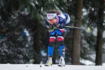 Kateřina Razýmová stíhacím závodě žen na 10 km klasicky v rámci Světového poháru v běhu na lyžích.