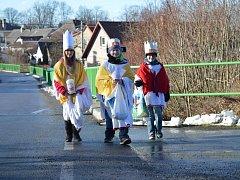 V sobotu tak tři skupinky koledníků koledovaly také ve Vojnově Městci.