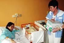 Krabici vlhčených ubrousků a velkou tašku dětských plen dostalo v novoměstské porodnici šest miminek.