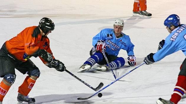 Vesnická hokejová liga.