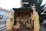 Dřevěný betlém mají i v Bystřici nad Pernštejnem.
