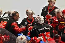 Hokejisté Žďáru (na snímku) ve čtvrtfinále play-off II.ligy překvapivě nestačili na Valašské Meziříčí.