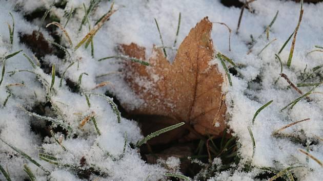 Sníh už poprášil i Žďárské vrchy