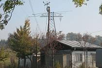 Stožáry u Studnic na Novoměstsku.