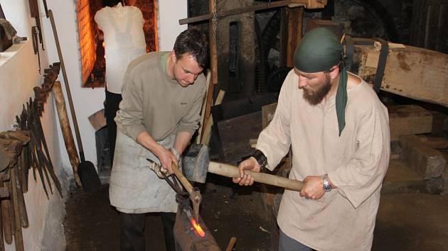 Kováři v Šlakhamru v Hamrech nad Sázavou.