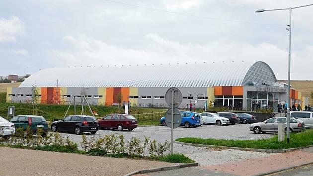 Zimní stadion v Bystřici nad Pernštejnem.