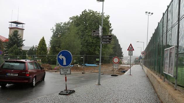 Tyršova ulice prochází rekonstrukcí.