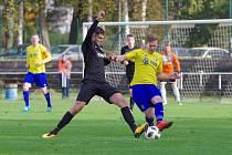 Po výborném závěru dokázali fotbalisté Velké Bíteše (ve žlutých dresech) dovést zápas v Havlíčkově Brodě k nerozhodnému výsledku 2:2.