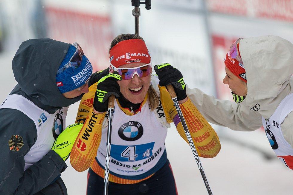 Závod SP v biatlonu (štafeta ženy 4 x 6 km) v Novém Městě na Moravě. Na snímku: Denise Herrmann z Německa.