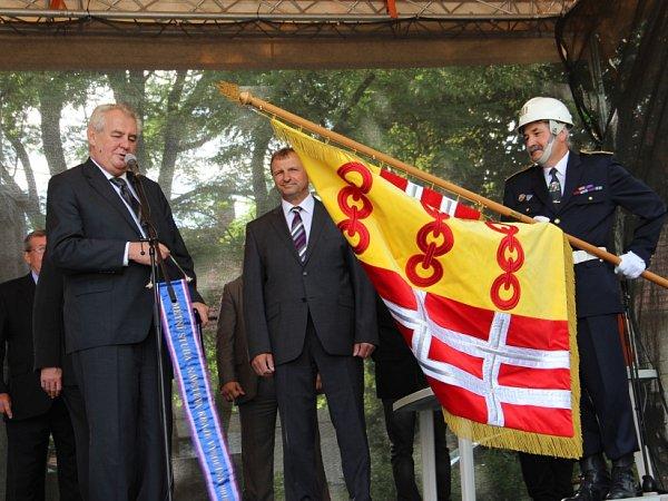 Miloš Zeman vNovém Veselí.