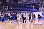 Z basketbalového utkání Ligy mistrů Mornar Bar – Nymburk 66:98