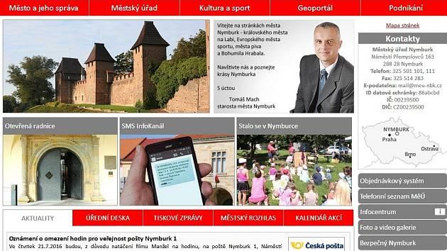 Nové webové stránky Nymburka.