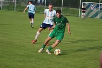 Z divizního fotbalového utkání Poříčany - Polaban Nymburk