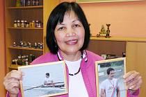 Paní Sokun je hrdá na syna Šimona, který v roce 2009 vyhrál zlato na mistrovství republiky ve veslování.