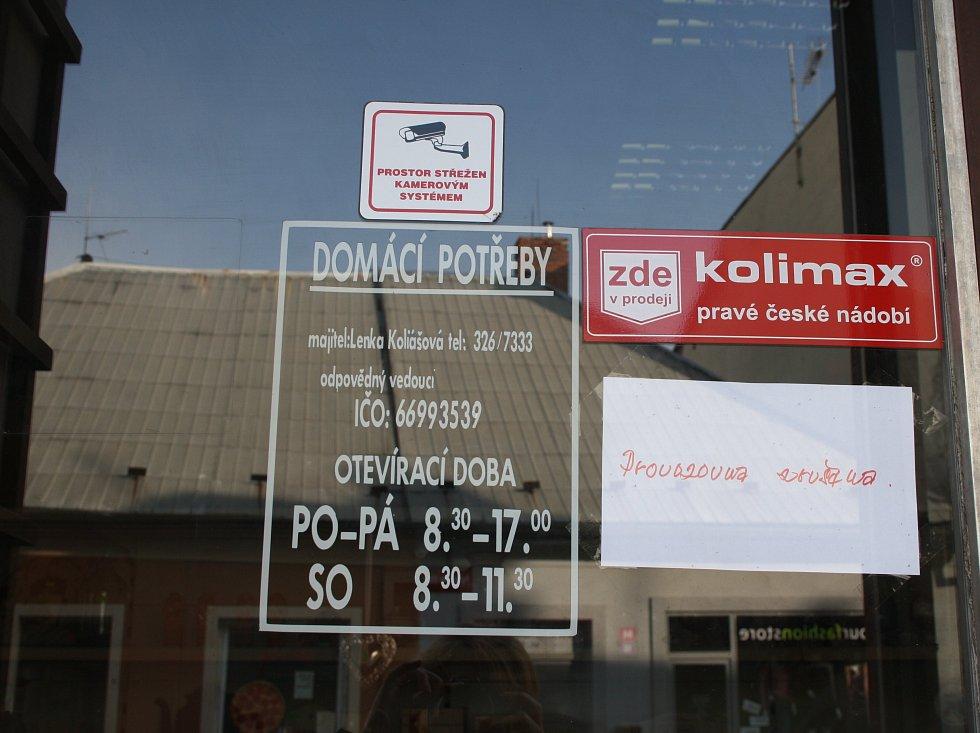 Obchody v Nymburce zavíraly kvůli EET