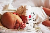 PETR HOLAN se narodil 18. ledna 2018 v 8.36 hodin s výškou 52 cm a váhou 3700 g. Radují se z něj rodiče Denisa a Petr z Poříčan.