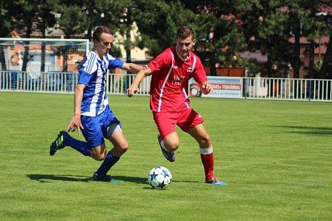 Z fotbalového utkání I.A třídy Čelákovice - Velim (1:1, na penalty 4:5)