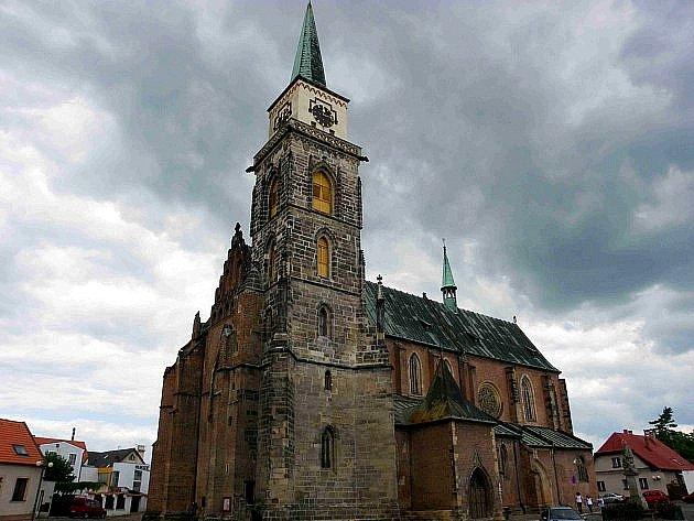Kostel svatého Jiljí, zjehož věže je jeden znejkrásnějších pohledů na Nymburk.