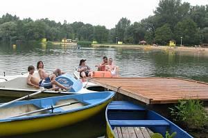 Poděbradské koupaliště Jezero.