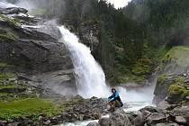 Krimmlské vodopády v Národním parku Vysoké Taury