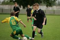 Z utkání krajského přeboru mladších dorostenců Polaban Nymburk - Union Čelákovice (1:5)