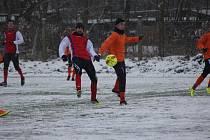 Z přípravného fotbalového utkání Bohemia Poděbrady - Rejšice (5:2)