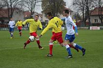 Z fotbalového utkání I.A třídy Velim - Union Čelákovice (2:0)