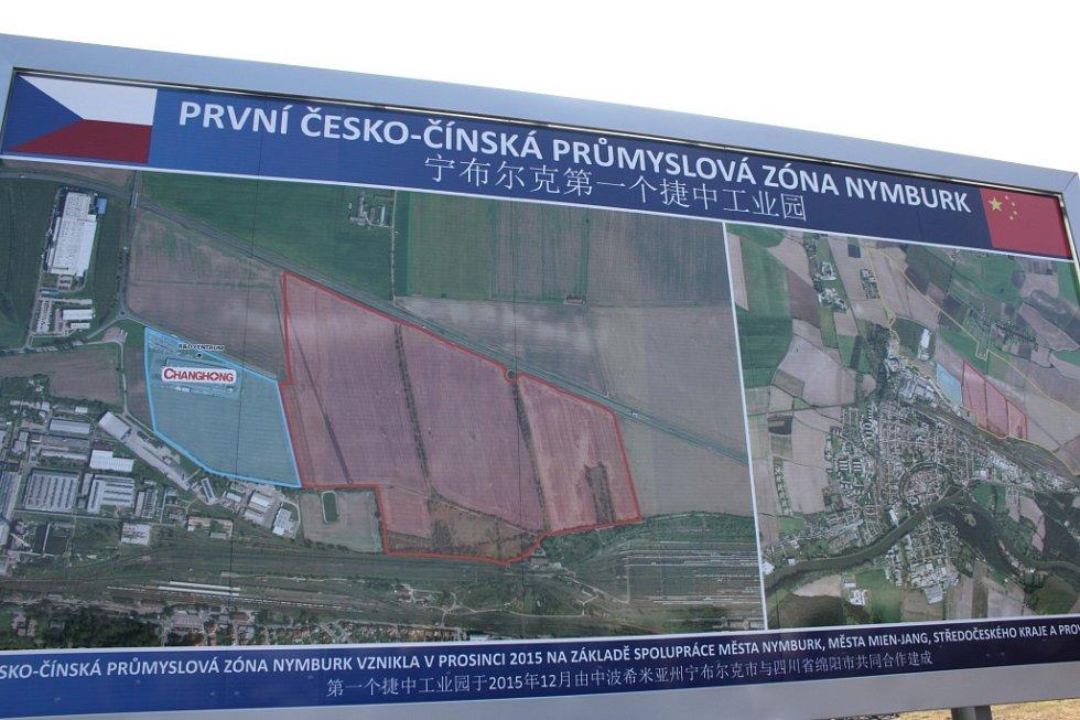 Slavnostní otevření první česko-čínské zóny