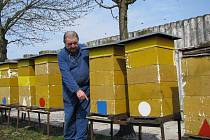 Včelař Josef Lounek (na snímku) má svých deset včelstev v pořádku. Řada jeho kolegů ale takové štěstí nemá.