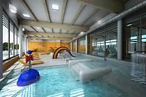 Vizualizace původního projektu bazénu.
