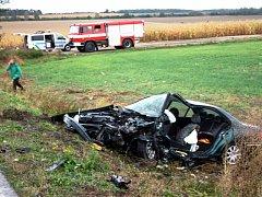 Při říjnové nehodě ve vyhlášené jiřické zatáčce byli dva lidé zraněni těžce, dva lehce.