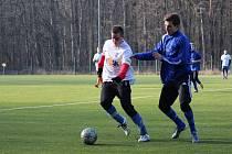 Z přípravného fotbalového utkání Libice nad Cidlinou - Ždírec (3:2)